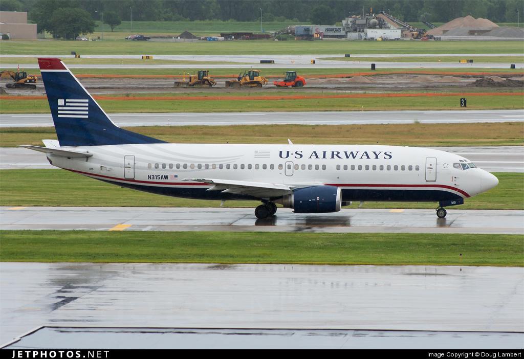 N315AW - Boeing 737-3S3 - US Airways