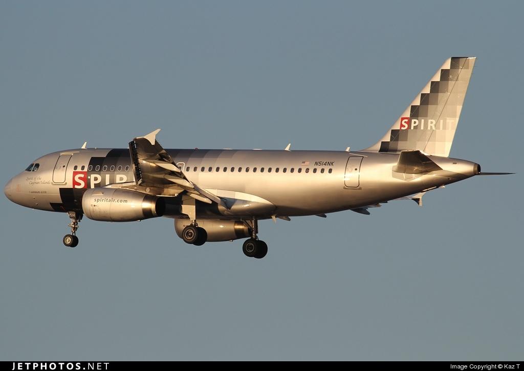 N514NK - Airbus A319-132 - Spirit Airlines