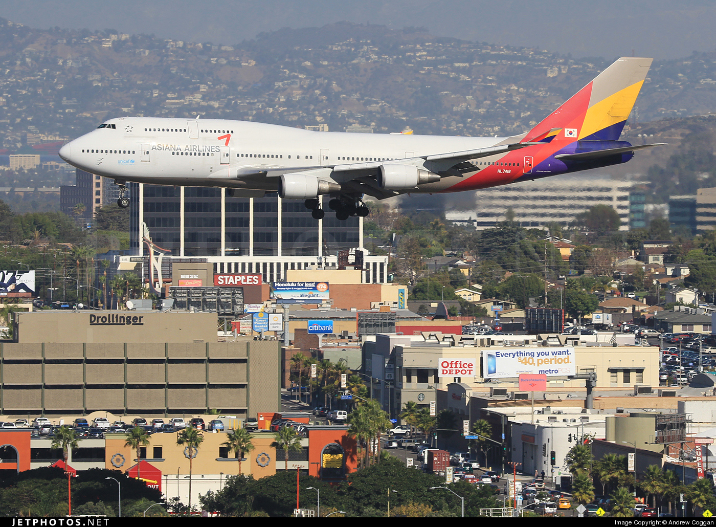 HL7413 | Boeing 747-48E(BDSF) | Asiana Airlines | Andrew ...