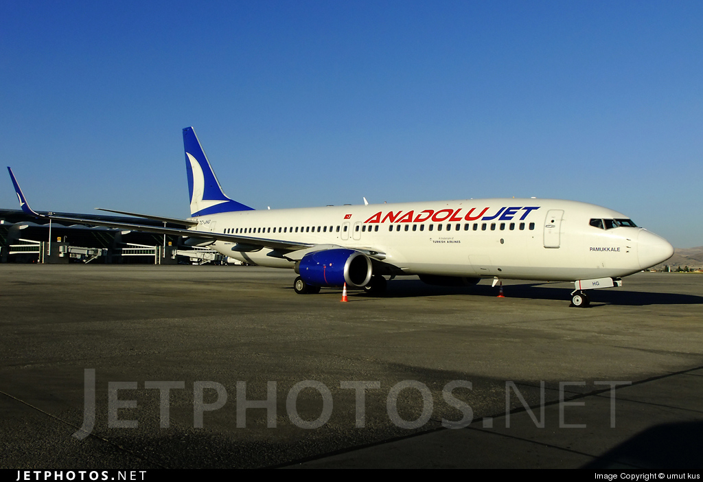 TC-JHG - Boeing 737-8GJ - AnadoluJet