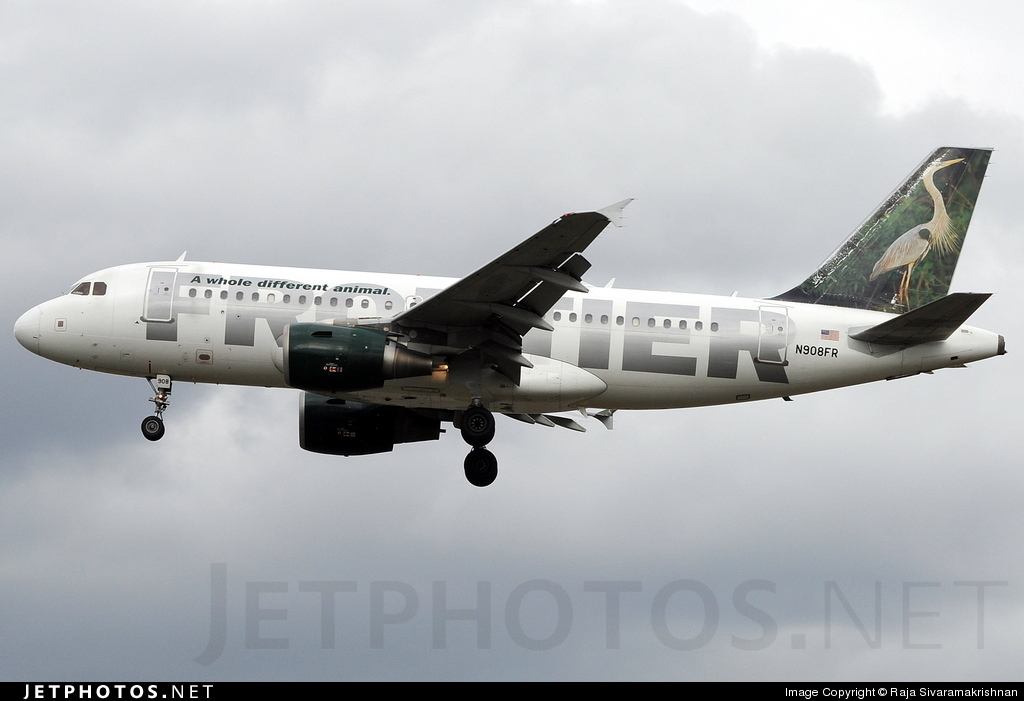 N908FR - Airbus A319-111 - Frontier Airlines