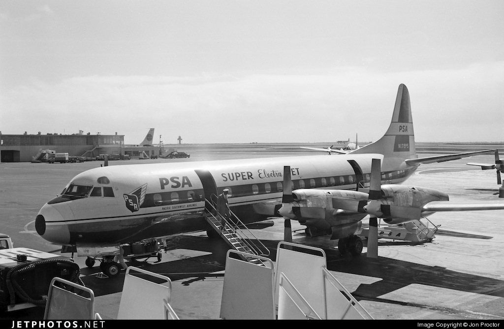 N172PS - Lockheed L-188C Electra - Pacific Southwest Airlines (PSA)