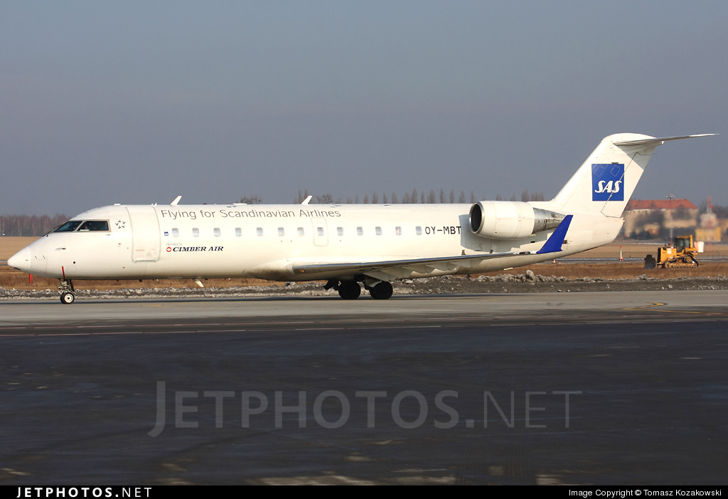 OY-MBT - Bombardier CRJ-200ER - Scandinavian Airlines (Cimber Sterling Airlines)