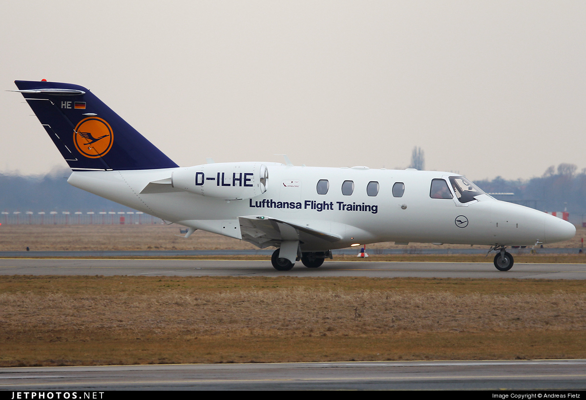 D-ILHE - Cessna 525 CitationJet 1 - Lufthansa Flight Training