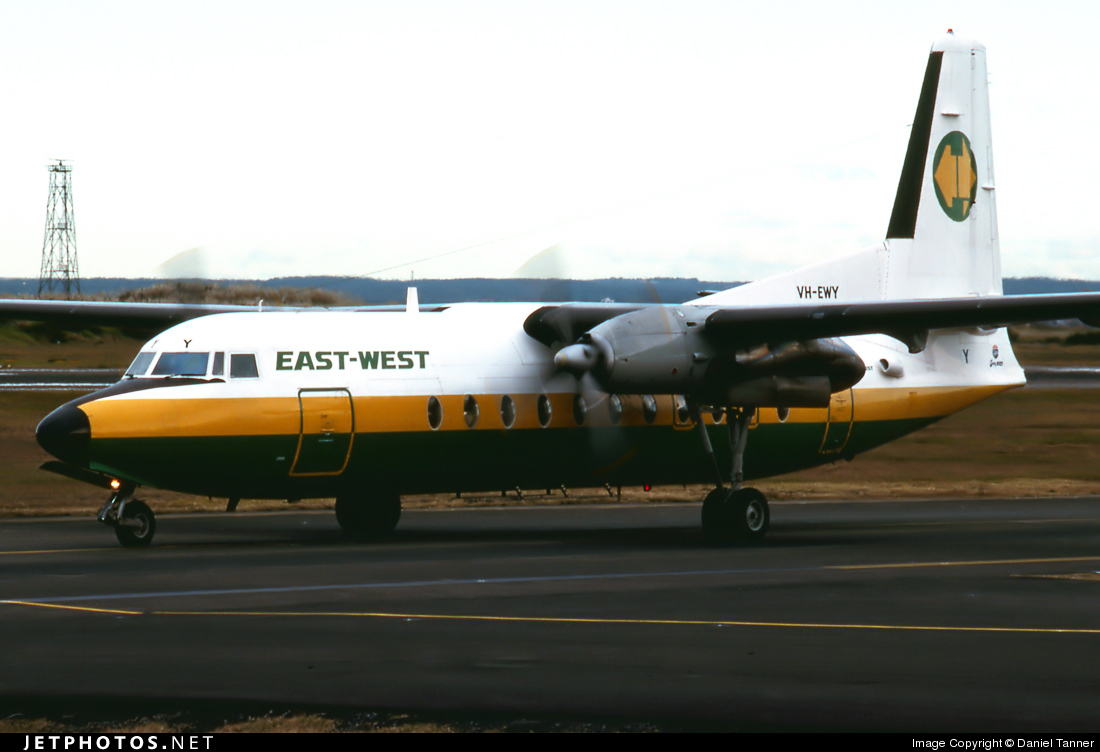 VH-EWY - Fokker F27-500 Friendship - East-West Airlines