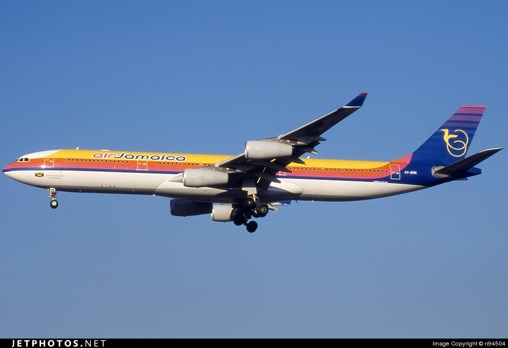 6Y-JMM - Airbus A340-313X - Air Jamaica