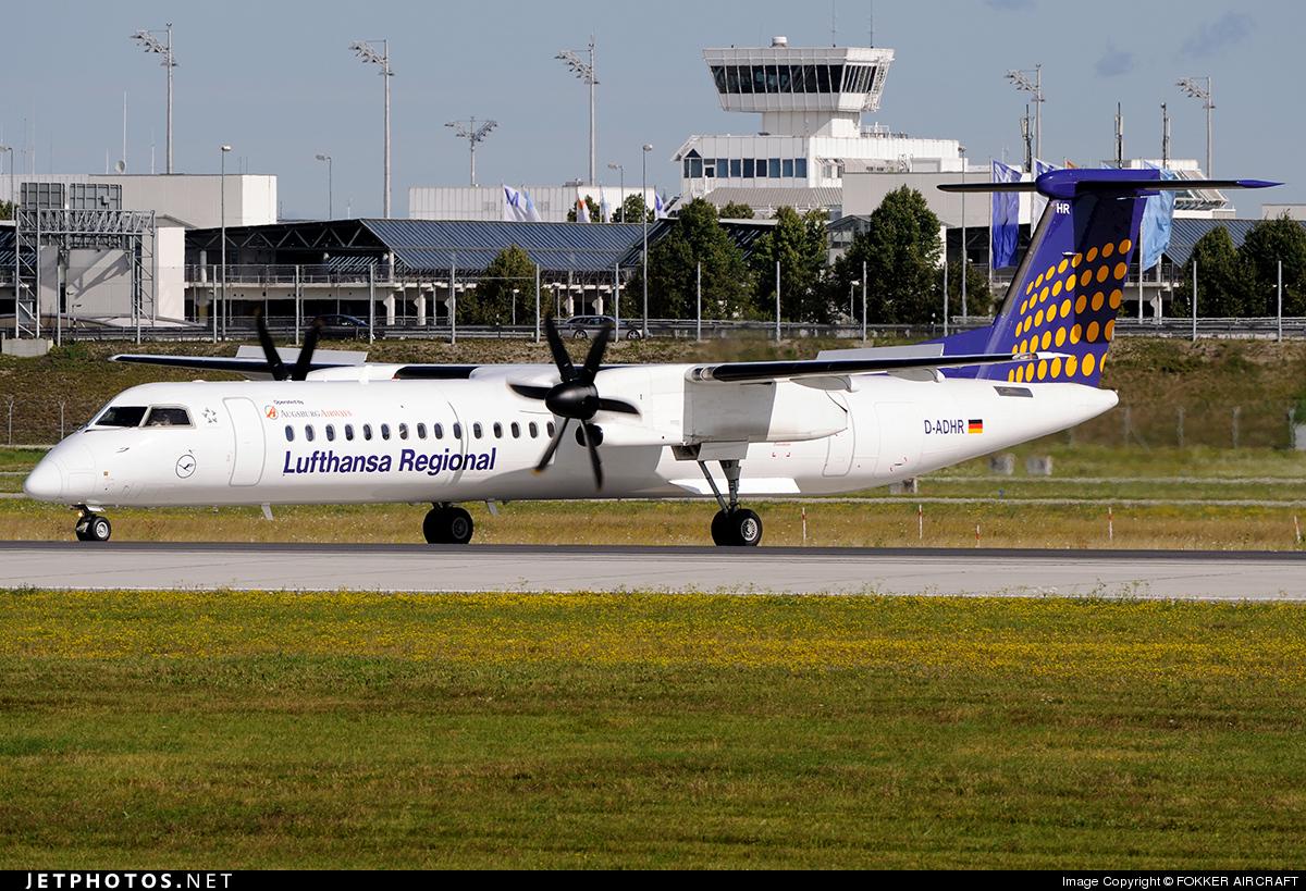D-ADHR - Bombardier Dash 8-Q402 - Lufthansa Regional (Augsburg Airways)