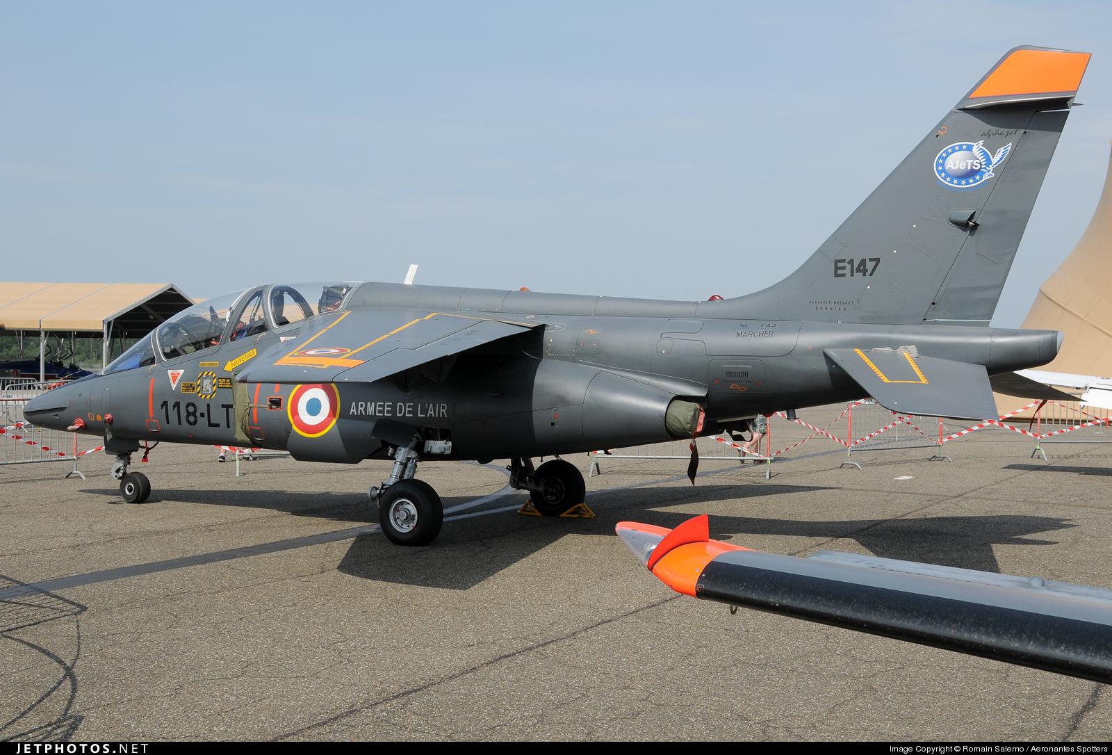 Risultati immagini per French Air Force Dassault-Breguet Alpha Jet E (E147)