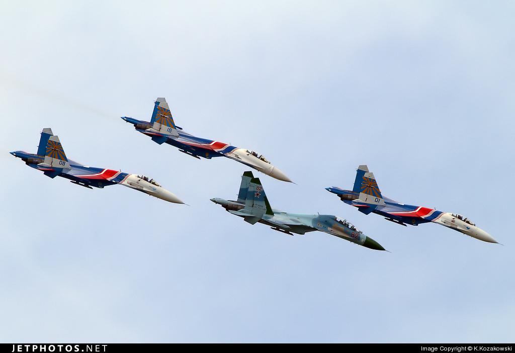 82 - Sukhoi Su-27UB Flanker C - Russia - Air Force