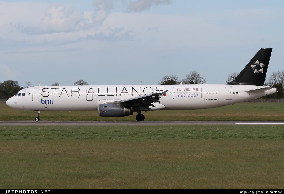 G-MIDL - Airbus A321-231 - bmi British Midland International