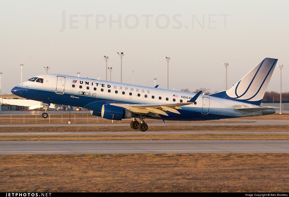 N864RW - Embraer 170-100SE - United Express (Shuttle America)