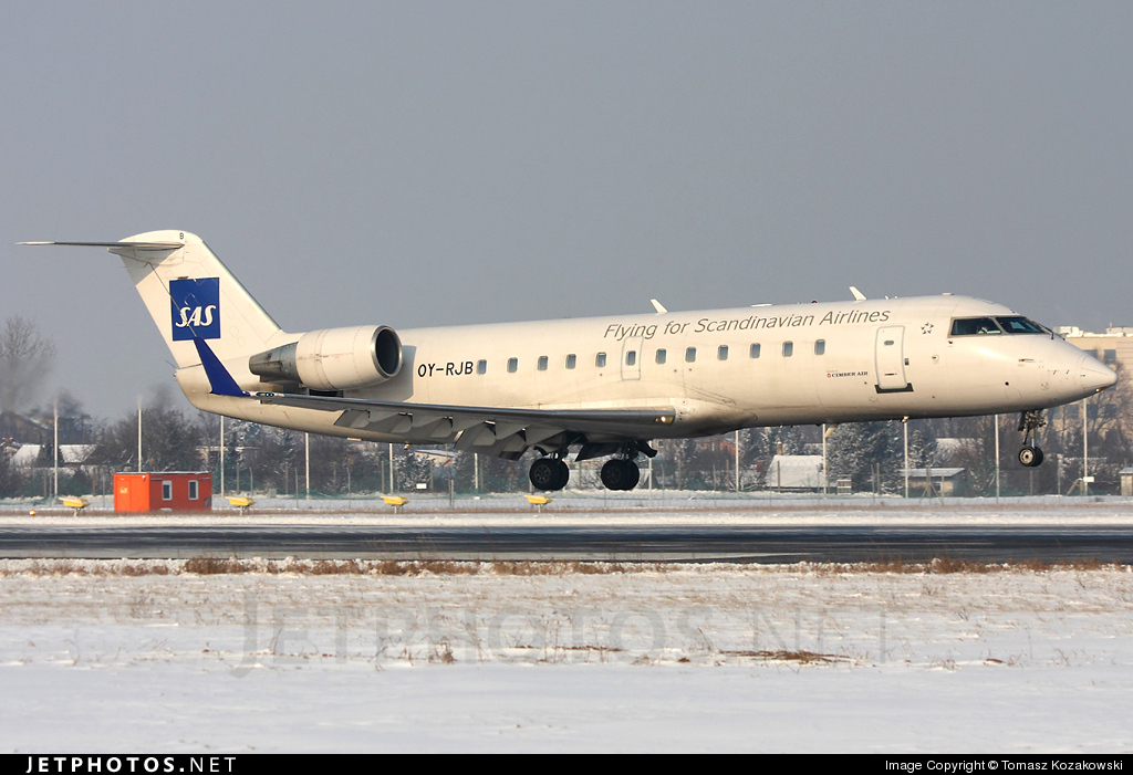 OY-RJB - Bombardier CRJ-200ER - Scandinavian Airlines (Cimber Sterling Airlines)