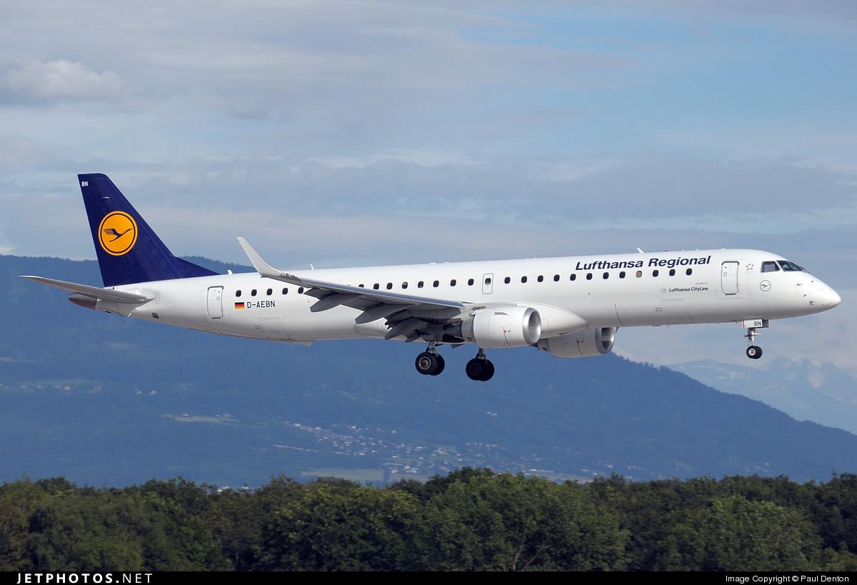 d-aebn | embraer 190-200lr | lufthansa regional (cityline) | paul