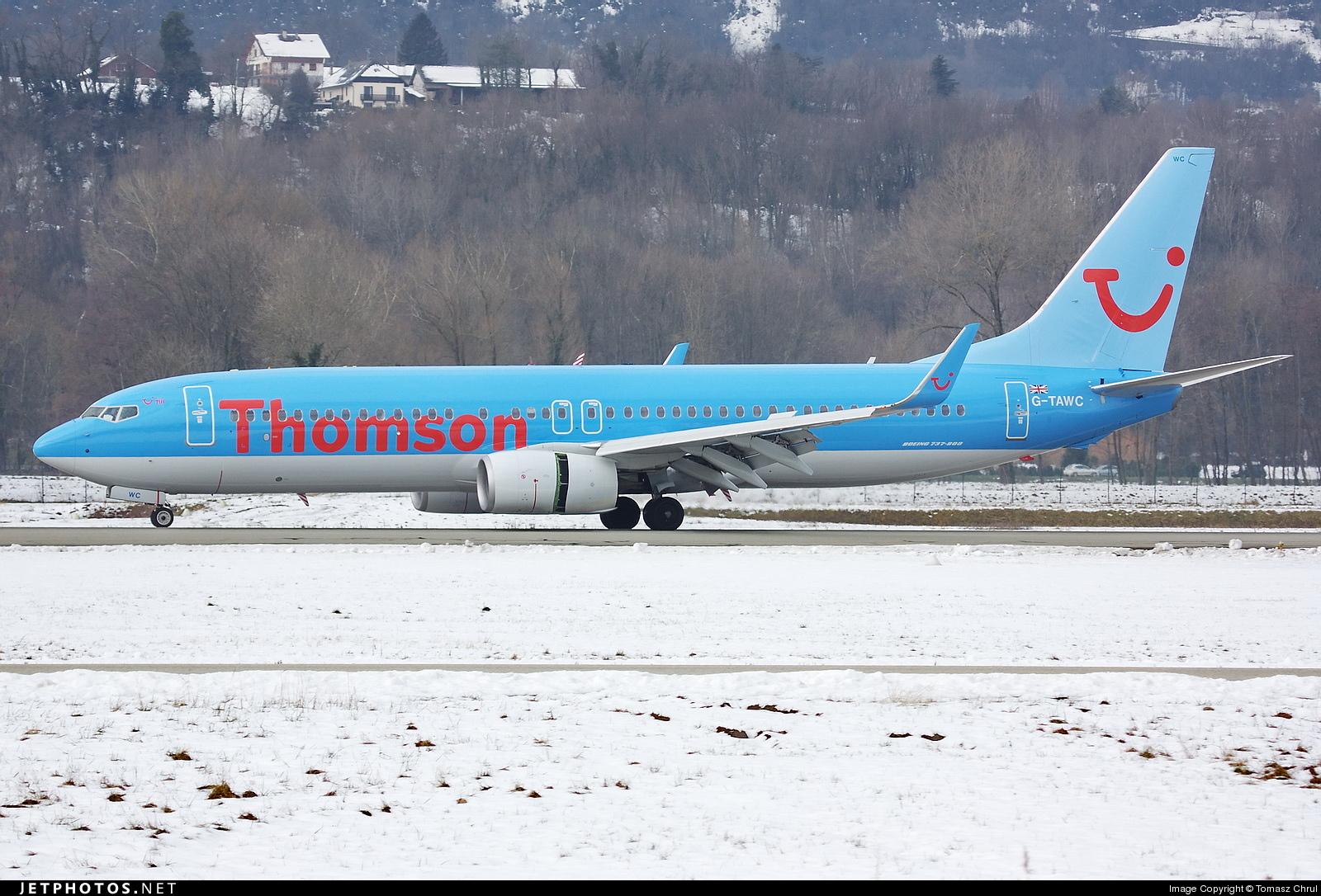 G-TAWC - Boeing 737-8K5 - Thomson Airways