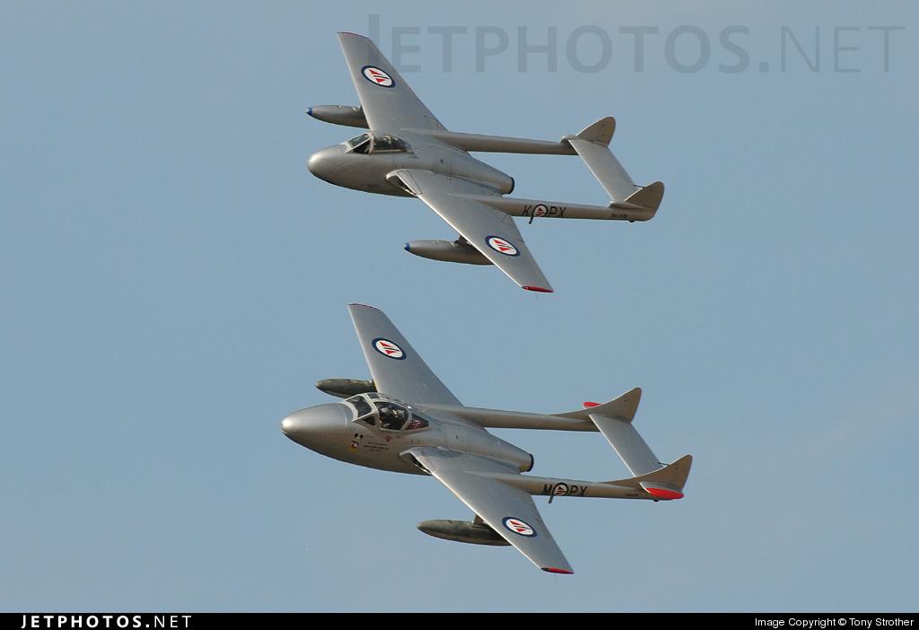 LN-DHZ - De Havilland DH-115 Vampire - Private