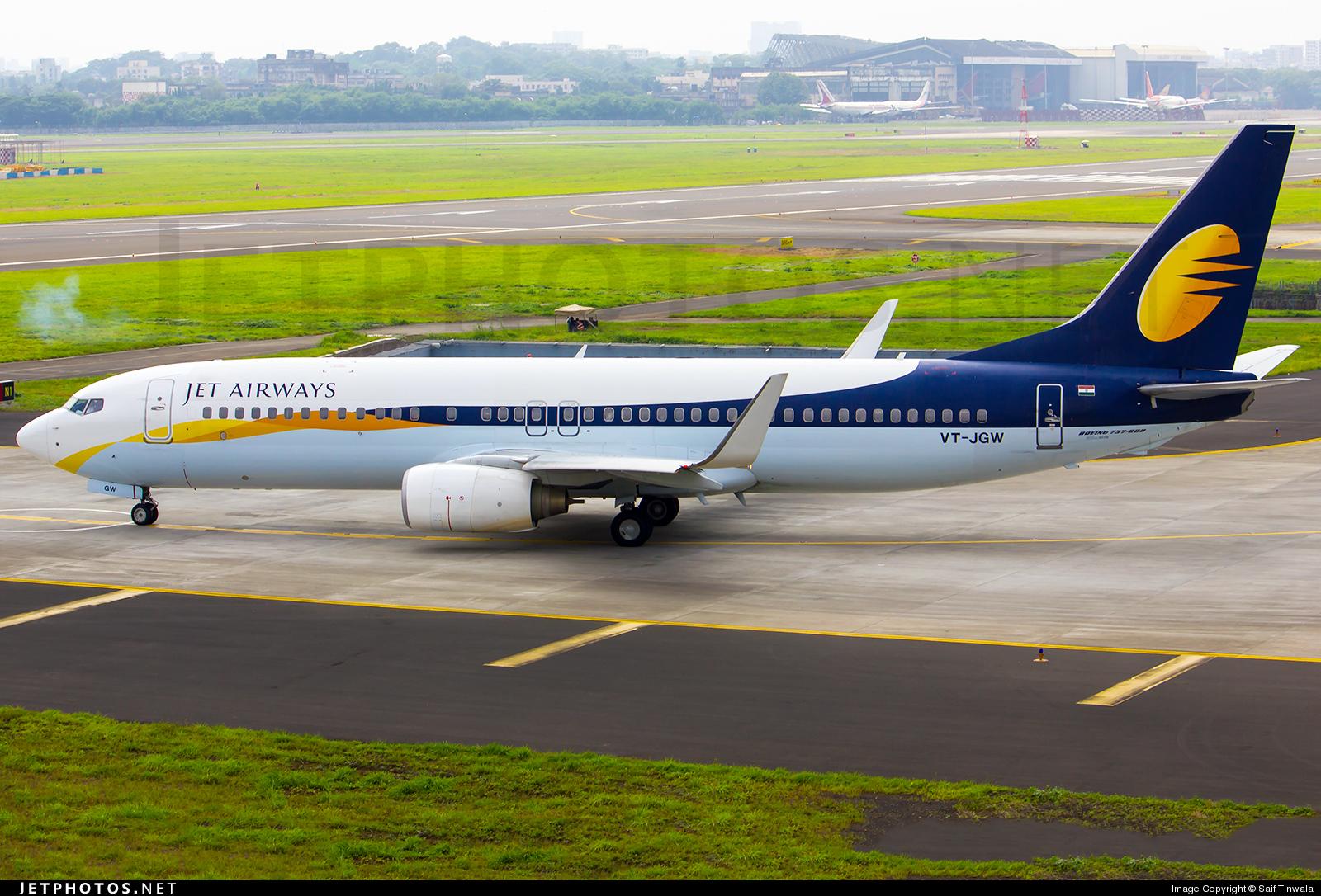 VT-JGW - Boeing 737-85R - Jet Airways