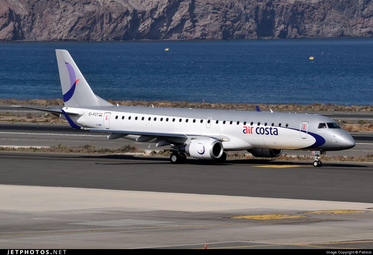 EI-FCT - Embraer 190-100STD - Air Costa