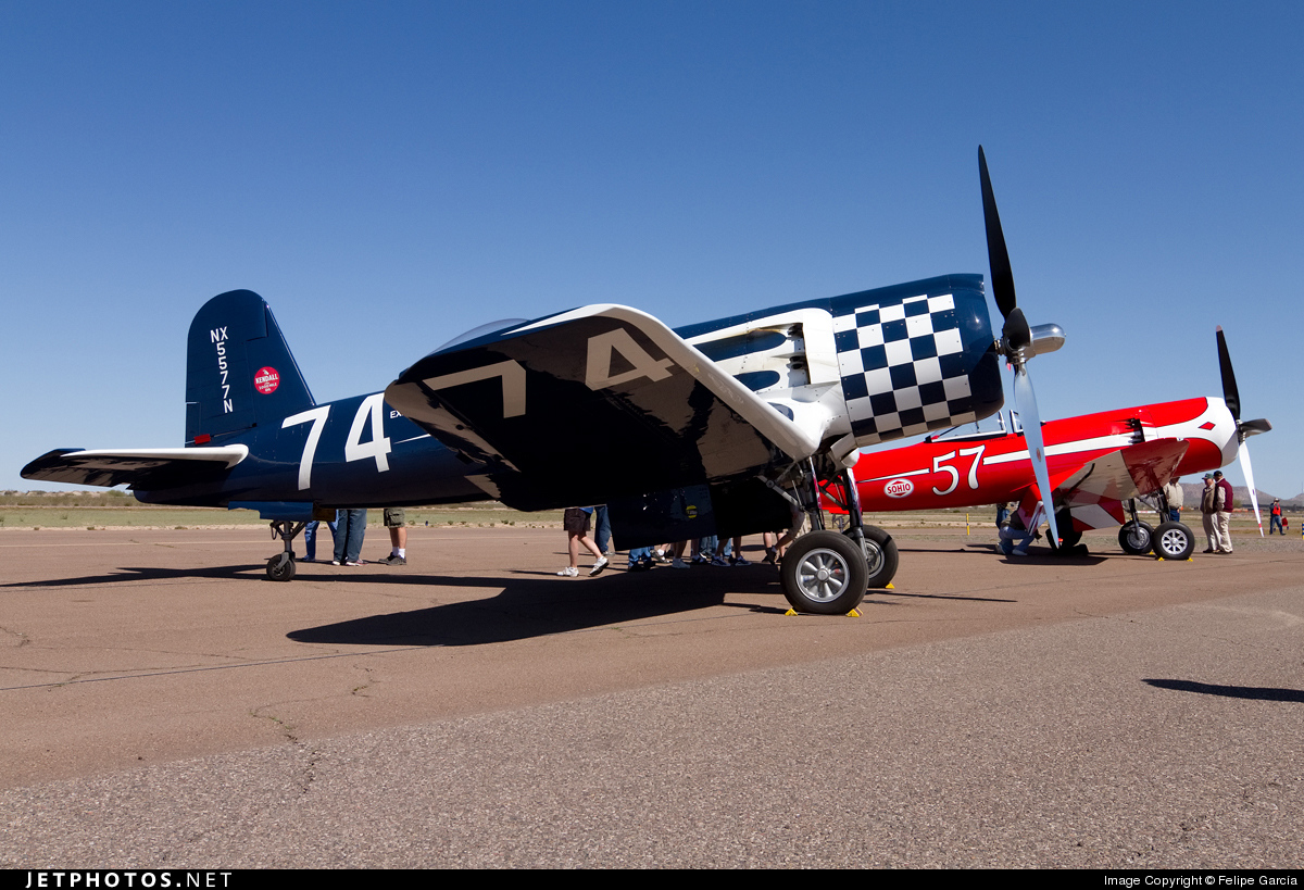 N5577N - Goodyear F-2G Corsair - Private