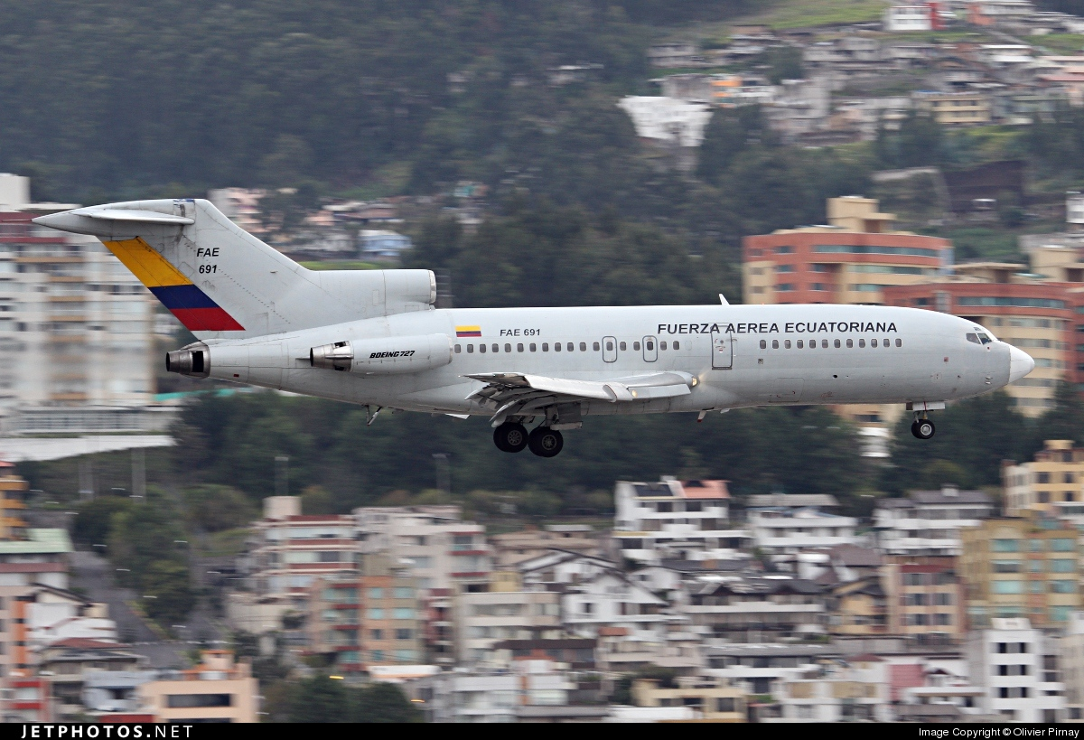 FAE691 - Boeing 727-134 - Ecuador - Air Force