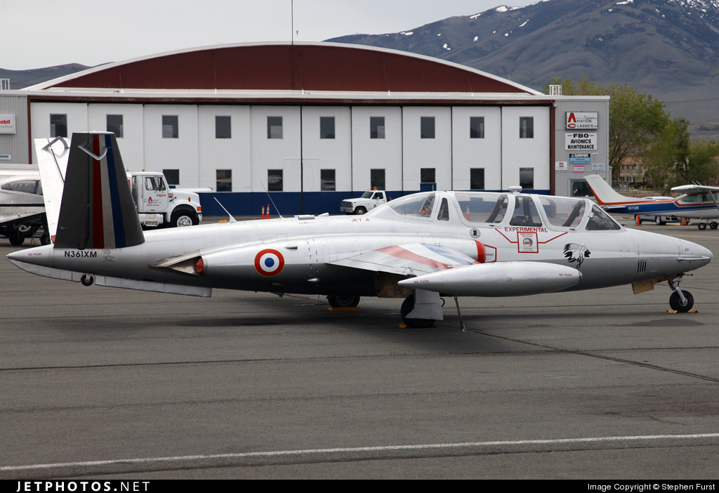 N361XM - Fouga CM-170 Magister - Private