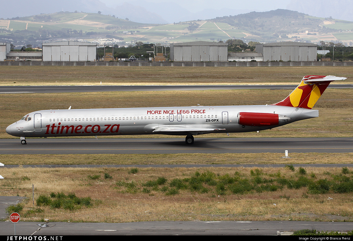 ZS-OPX - McDonnell Douglas MD-83 - 1Time Airline
