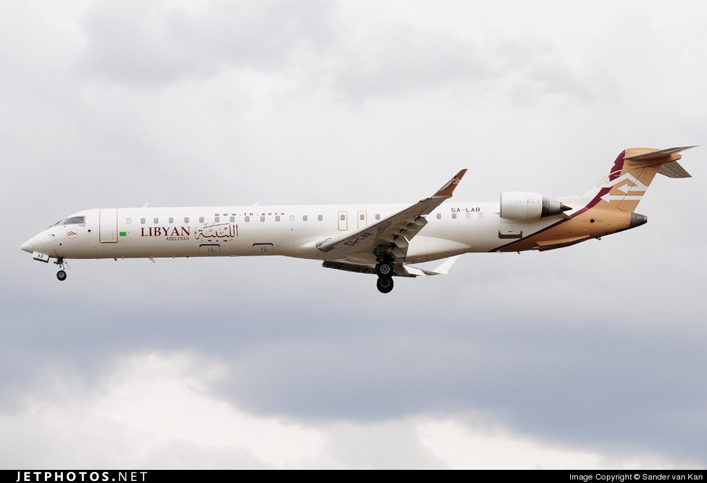 5A-LAB - Bombardier CRJ-900ER - Libyan Airlines