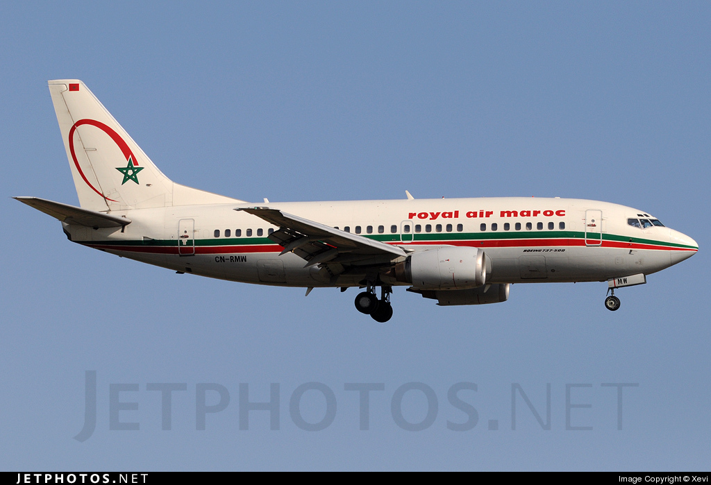 CN-RMW - Boeing 737-5B6 - Royal Air Maroc (RAM)