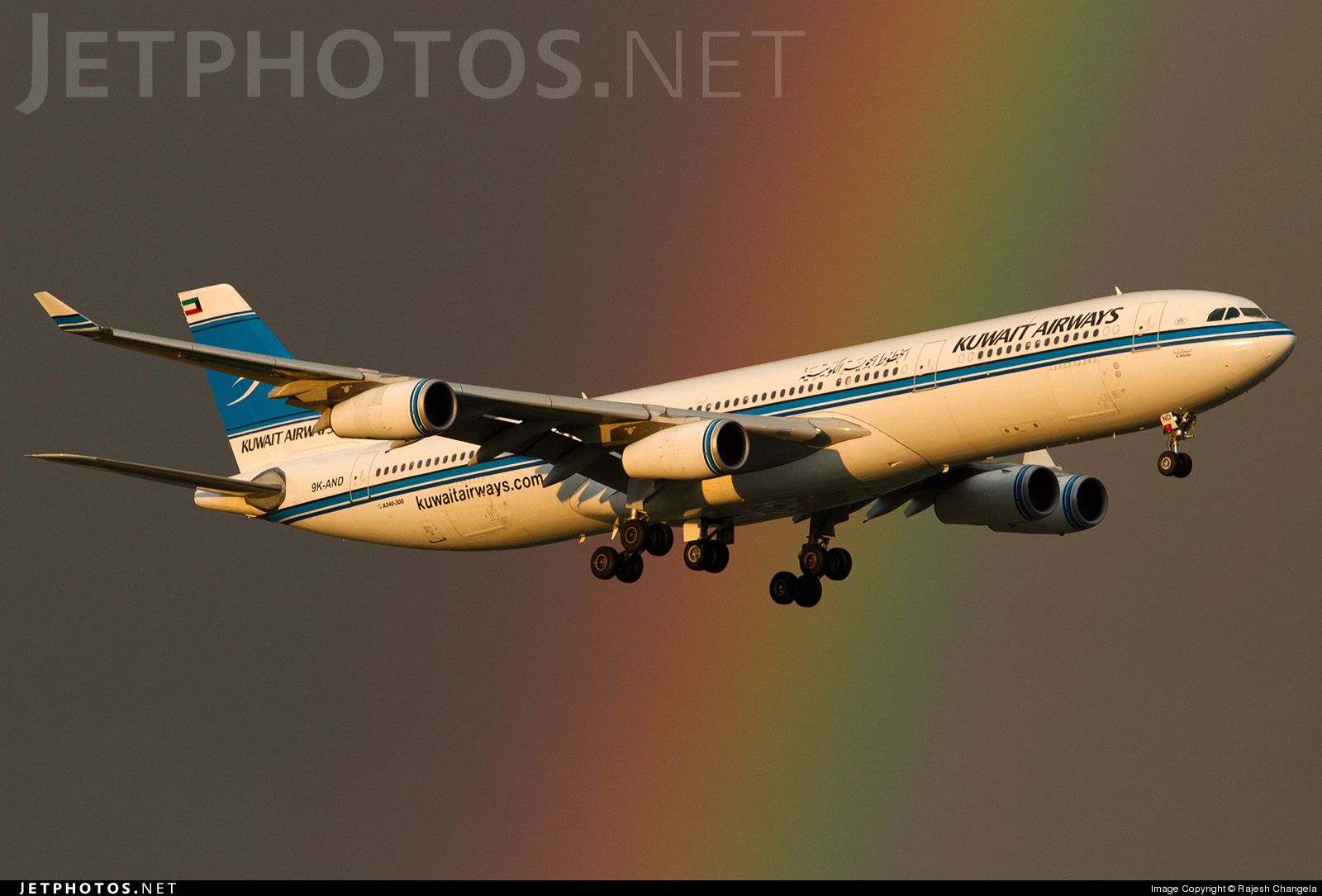 9K-AND - Airbus A340-313 - Kuwait Airways
