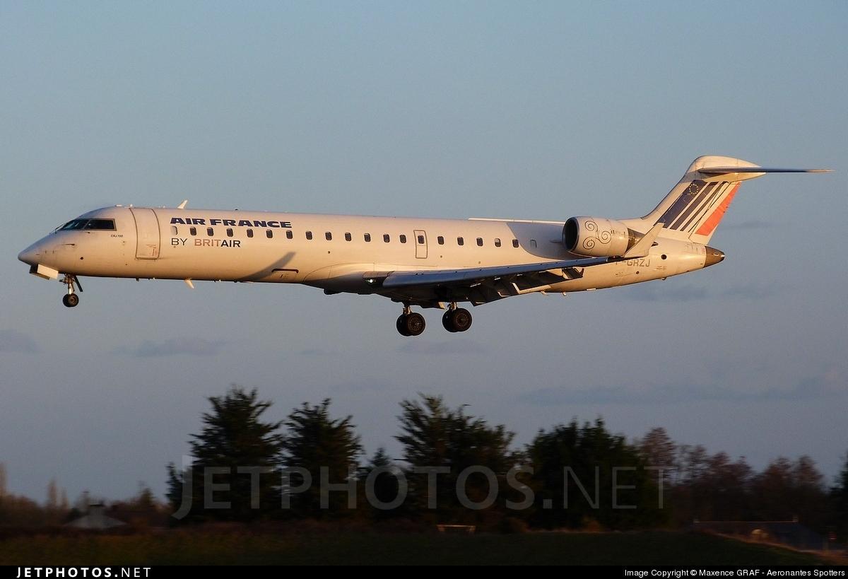 F-GRZJ - Bombardier CRJ-701 - Air France (Brit Air)