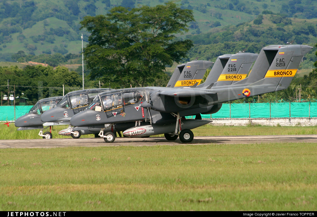 FAC2213 - North American OV-10A Bronco - Colombia - Air Force