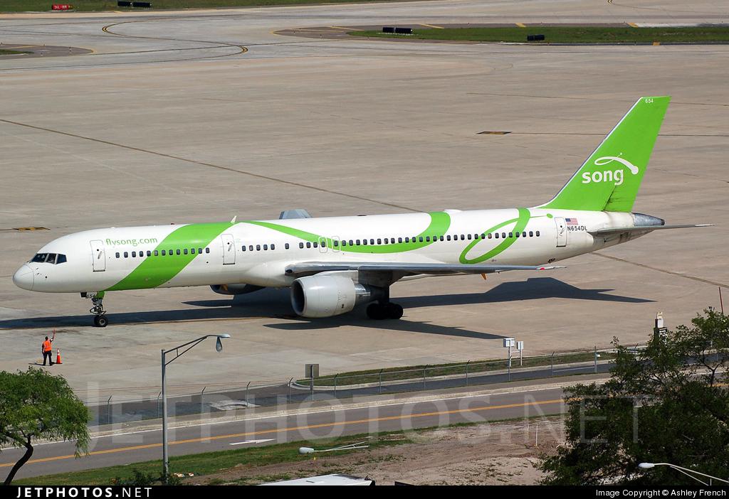 N654DL - Boeing 757-232 - Song