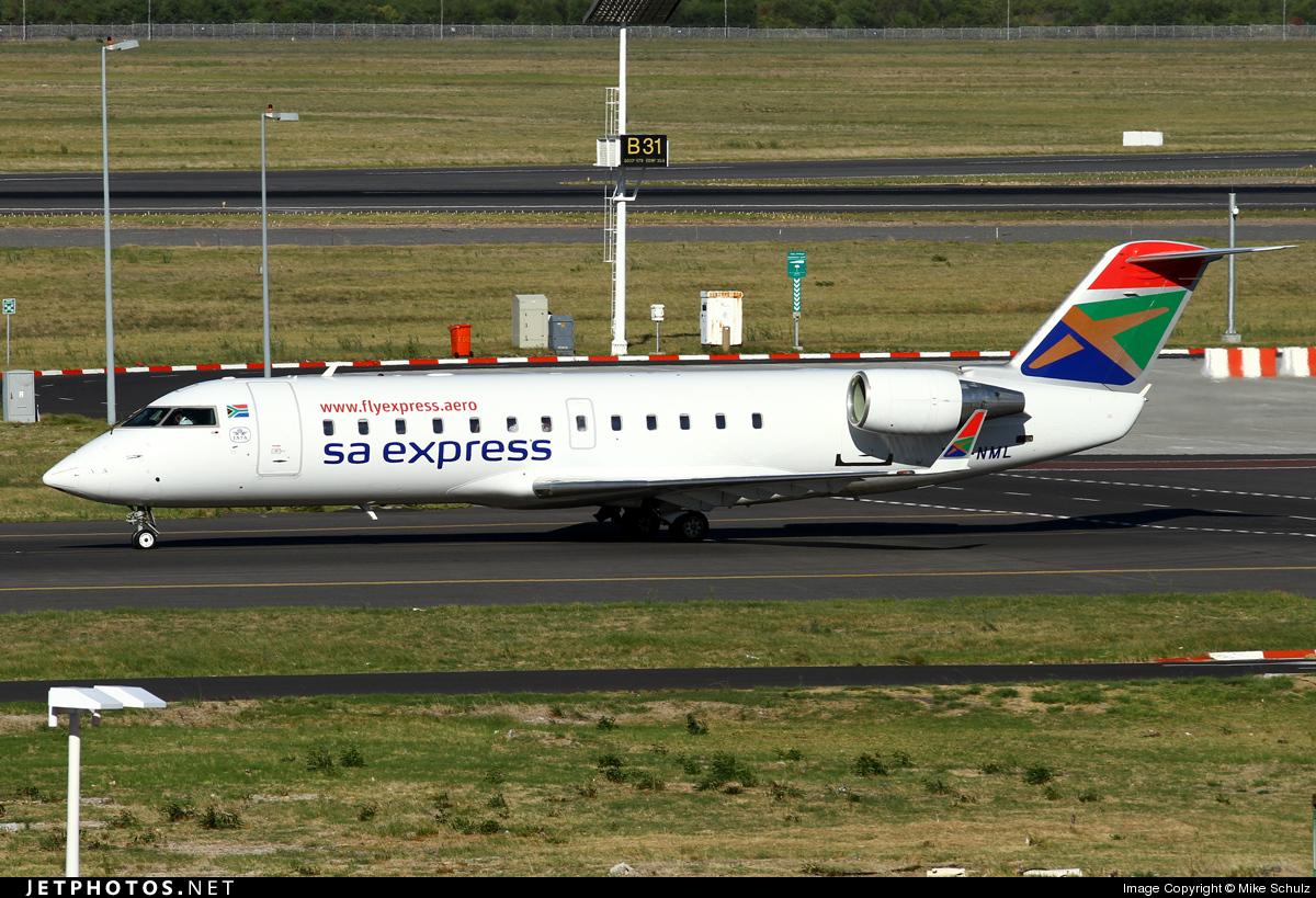 ZS-NML - Bombardier CRJ-200ER - SA Express