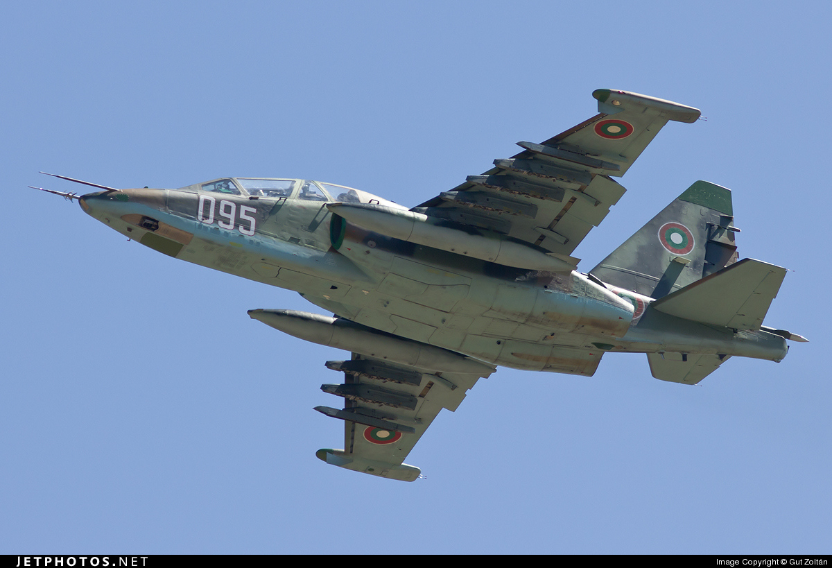 095 - Sukhoi Su-25UB Frogfoot - Bulgaria - Air Force
