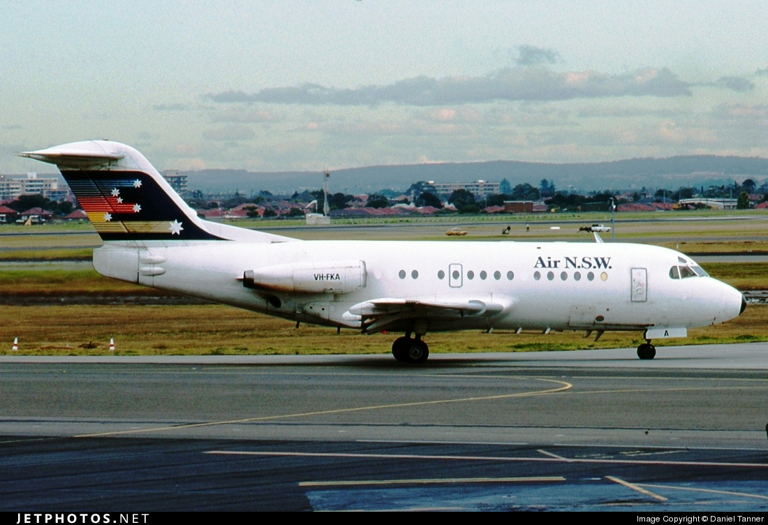 VH-FKA - Fokker F28-1000 Fellowship - Air New South Wales