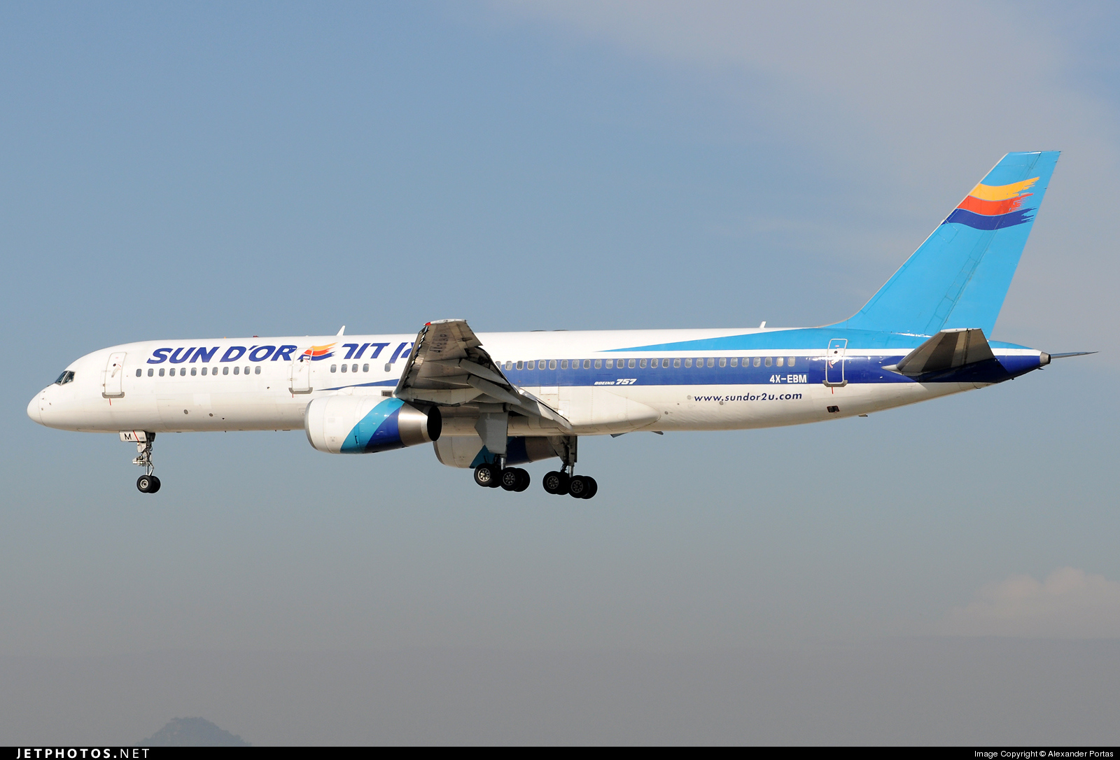 4X-EBM - Boeing 757-258 - Sun d'Or International Airlines