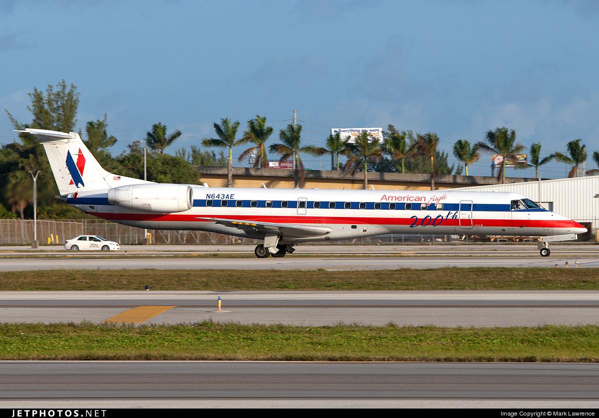 N643AE - Embraer ERJ-145LR - American Eagle