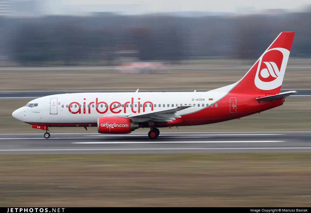 D-AGEN - Boeing 737-75B - Air Berlin (Germania)