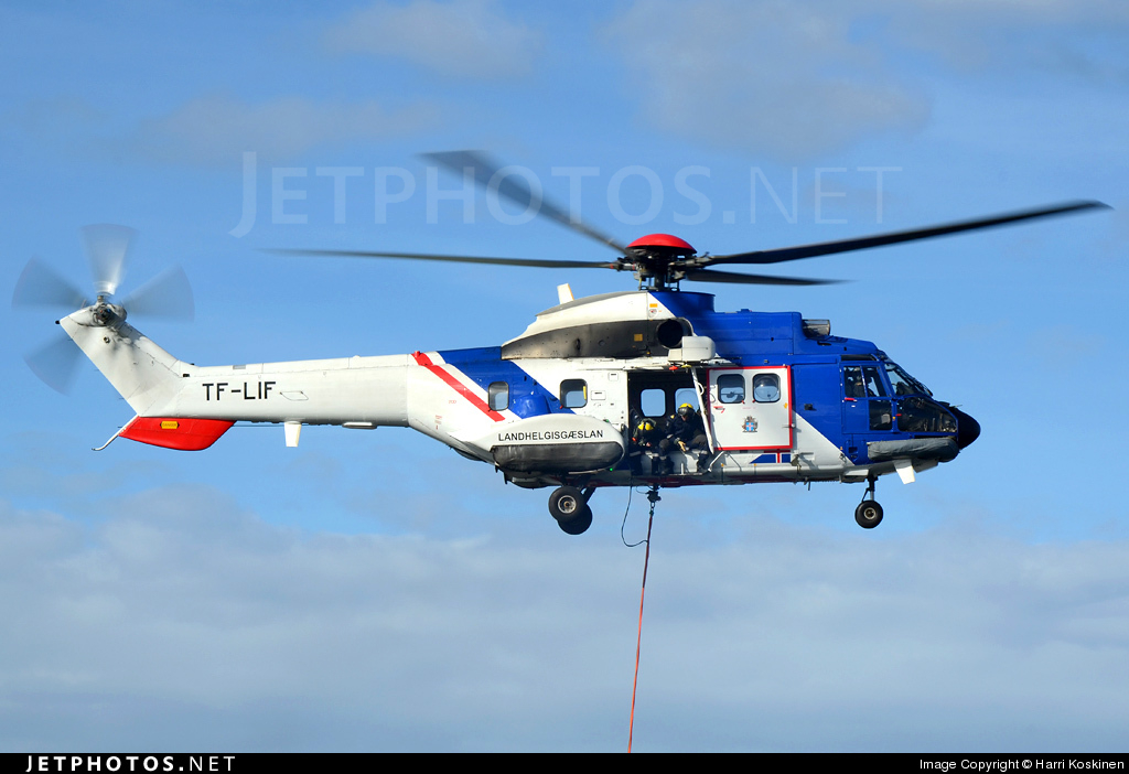 TF-LIF - Aérospatiale AS 332L1 Super Puma - Iceland - Coast Guard
