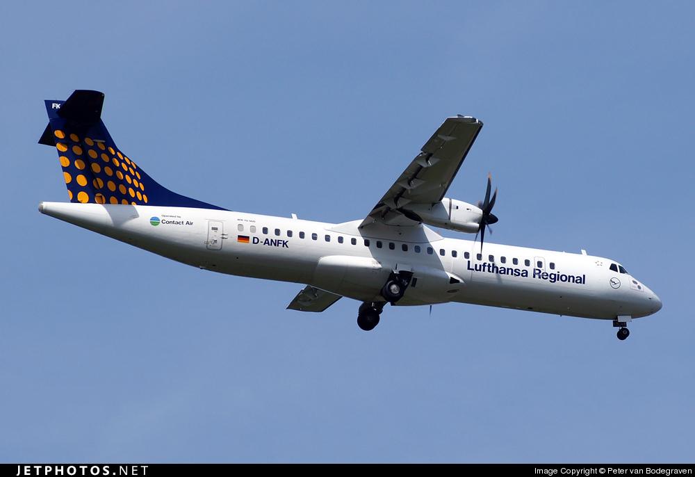 D-ANFK - ATR 72-212A(500) - Lufthansa Regional (Contact Air)