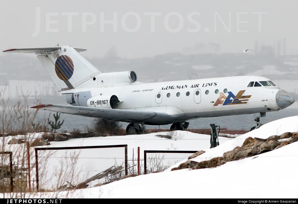 EK-88167 - Yakovlev Yak-40 - Armenian Airlines