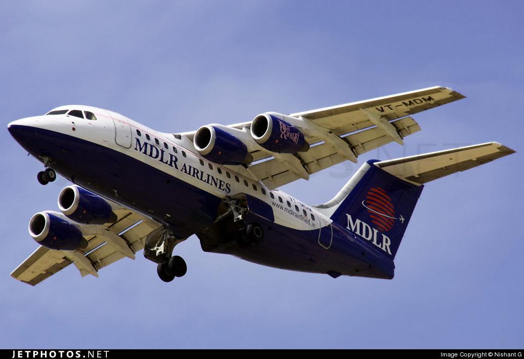 VT-MDM - British Aerospace Avro RJ70 - MDLR Airlines