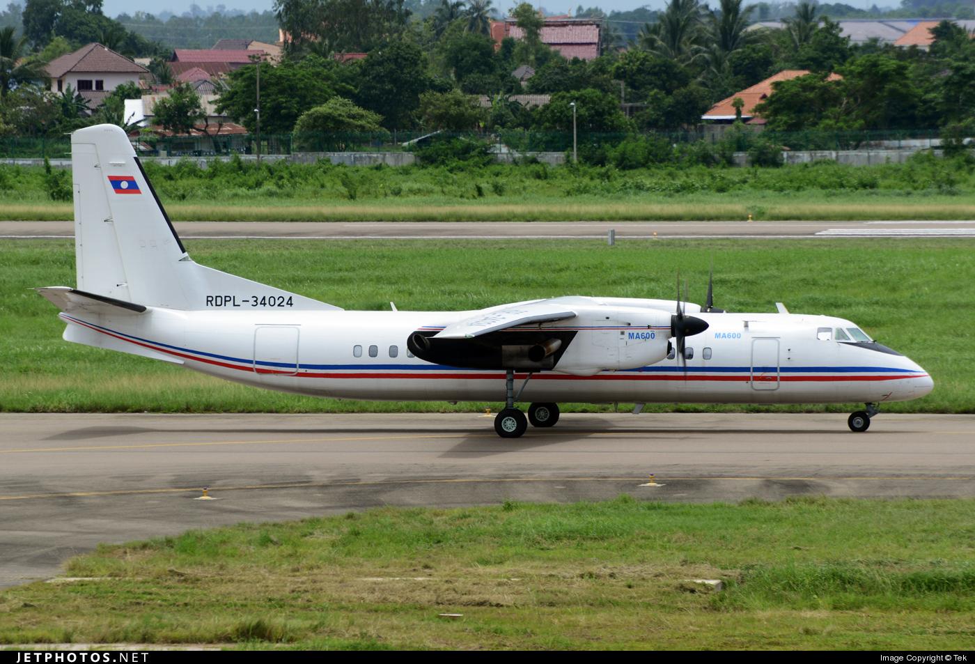 RDPL-34024 - Xian MA-600 - Laos - Air Force