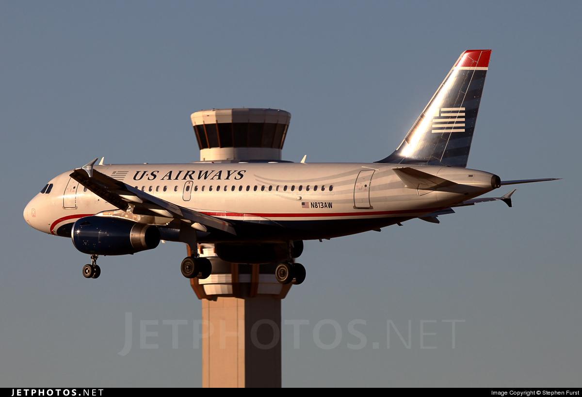N813AW - Airbus A319-132 - US Airways