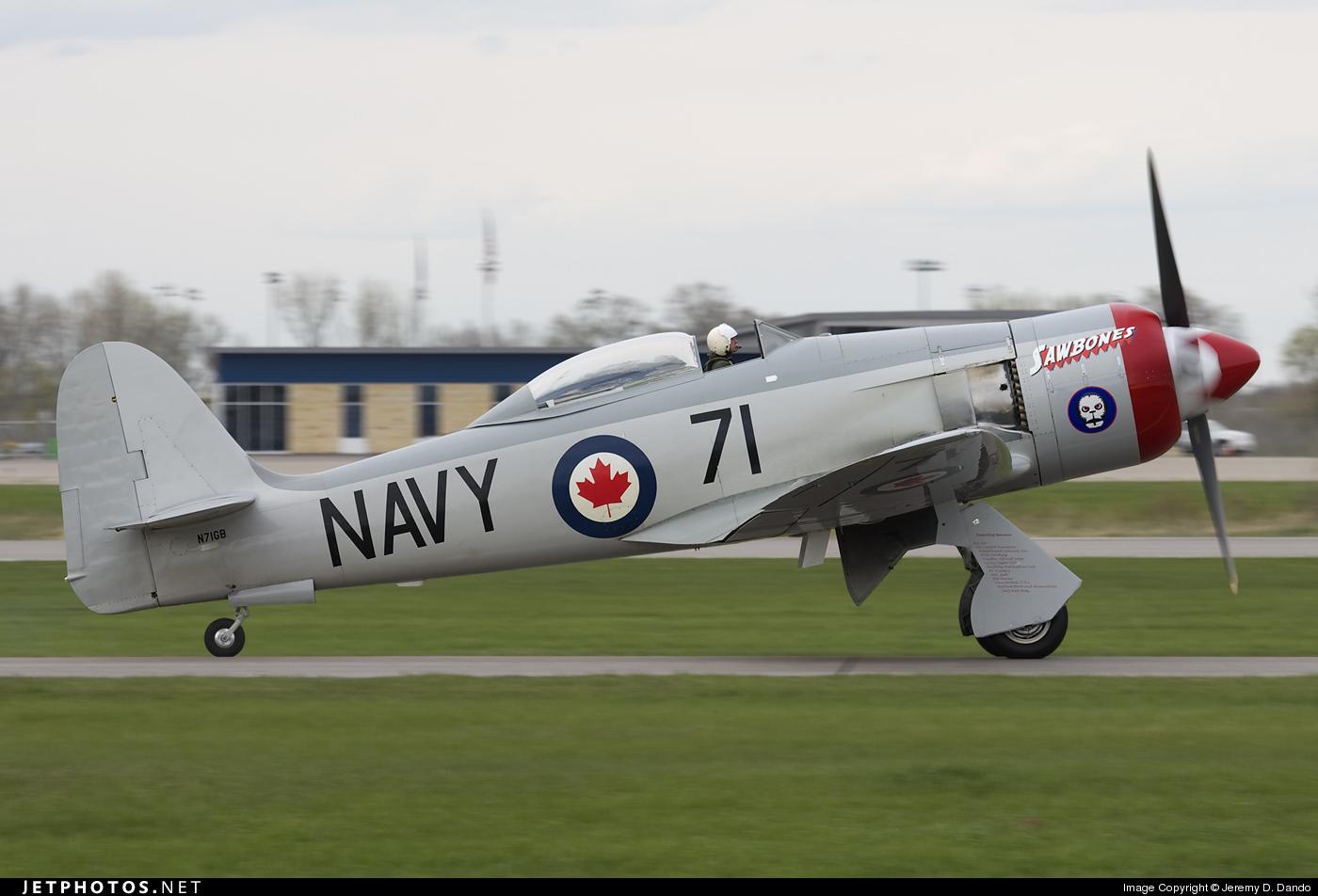 N71GB - Hawker Sea Fury T.20 - Private