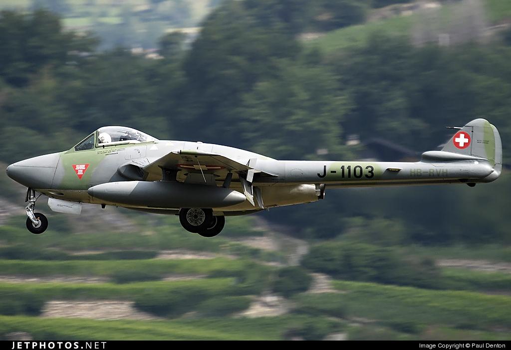 HB-RVH - De Havilland DH-115 Vampire - Private