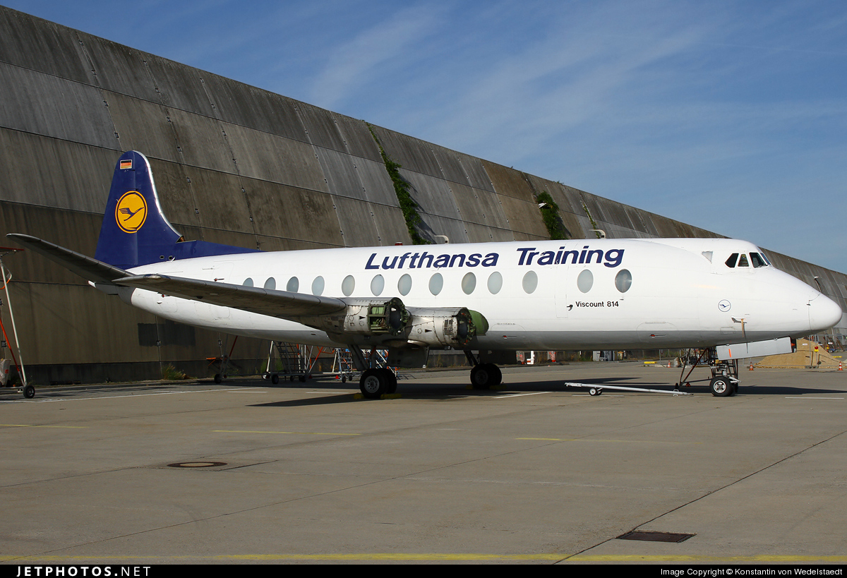 d anaf vickers viscount 814 lufthansa flight training konstantin von wedelstaedt jetphotos. Black Bedroom Furniture Sets. Home Design Ideas
