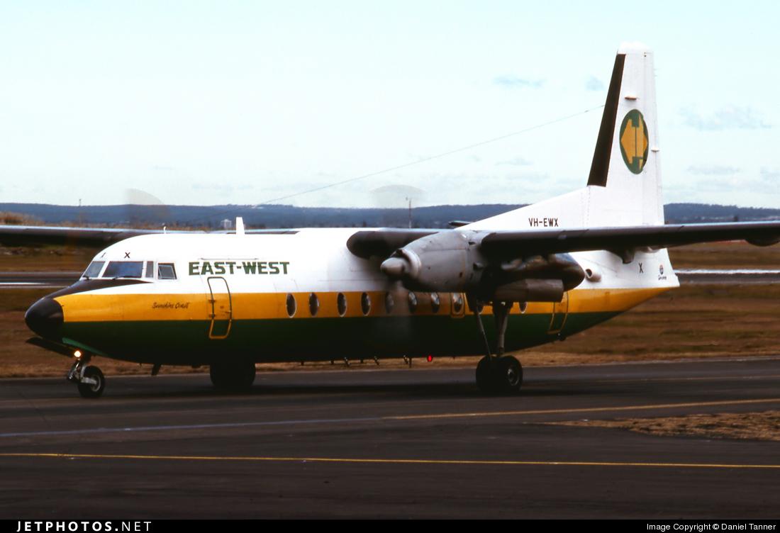 VH-EWX - Fokker F27-500 Friendship - East-West Airlines