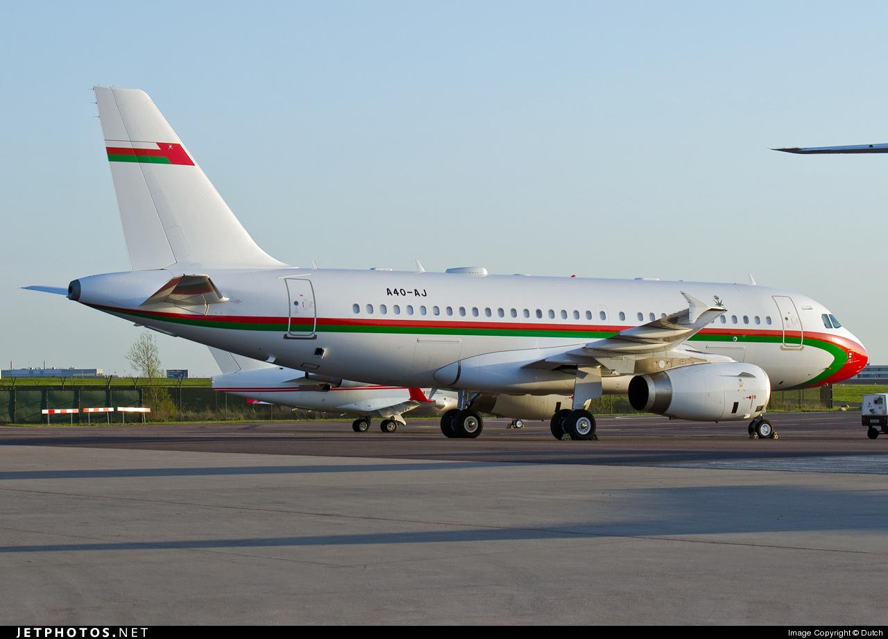 A4O-AJ   Airbus A319-133(CJ)   Oman - Royal Flight   Dutch ...