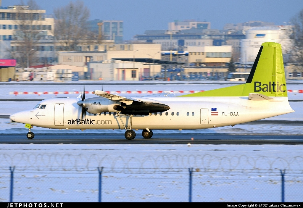YL-BAA - Fokker 50 - Air Baltic