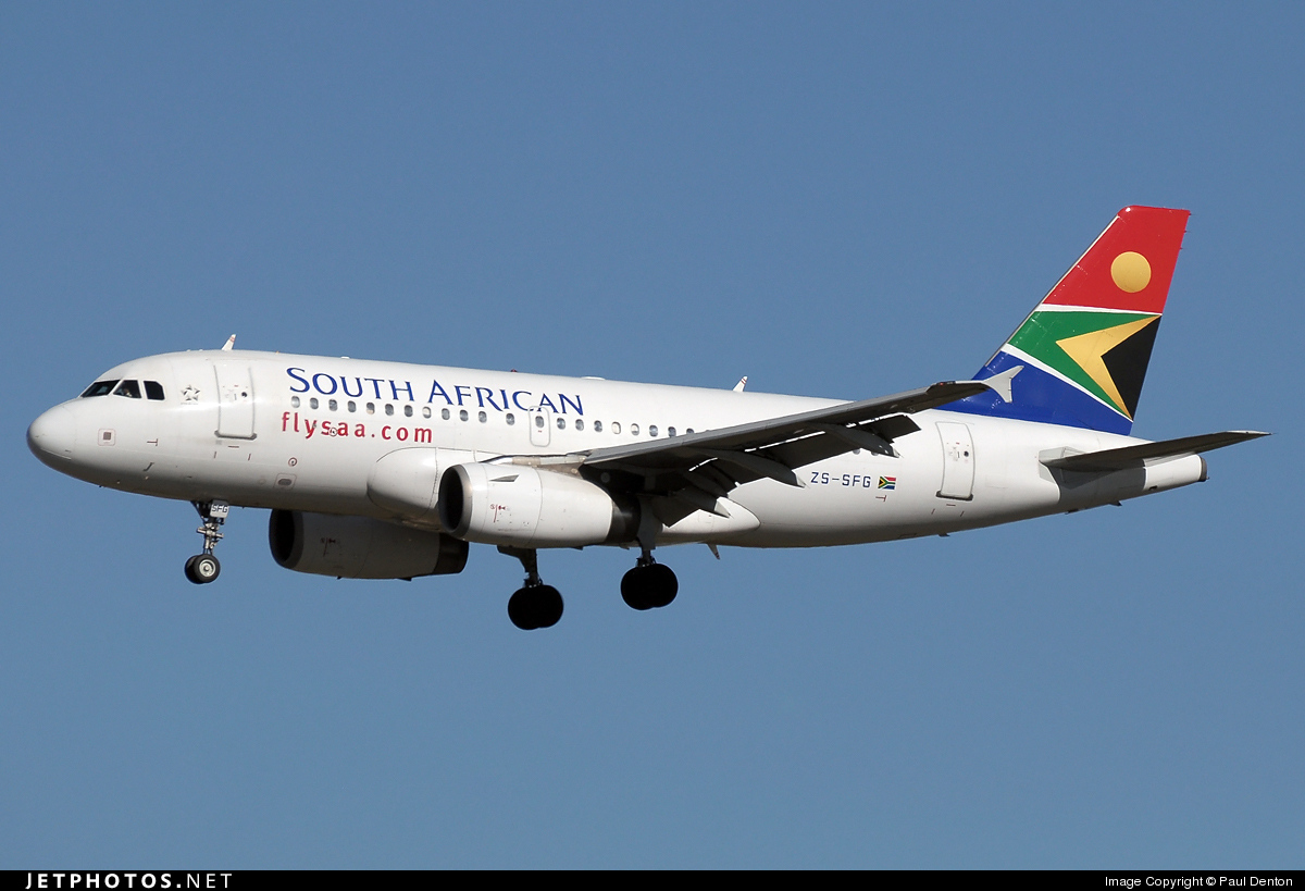 ZS-SFG - Airbus A319-131 - South African Airways